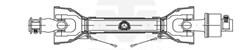 Imagem de CARDAN TUBO TRIANG. RODA LIVRE B2 1000mm