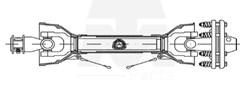 Imagem de CARDAN TUBO TRIANG.  C/EMBRAIAGEM B3 1200mm